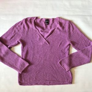 Eileen Fisher lilac loose knit lightweight sweater